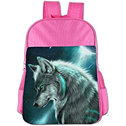 Wolf Cute Thickened Canvas School Backpack Laptop Bag Shoulder Daypack Handbag