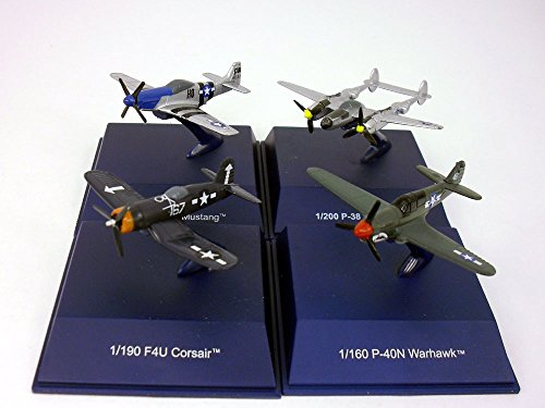 World War II American Fighters Diecast Metal Collection - Set of 4