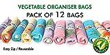 Ganapati Fridge Storage Bag / Vegetable & Fruit Net Bag, Pack Of 12 Large Size Bag (Size: 9.5*15 Inches)