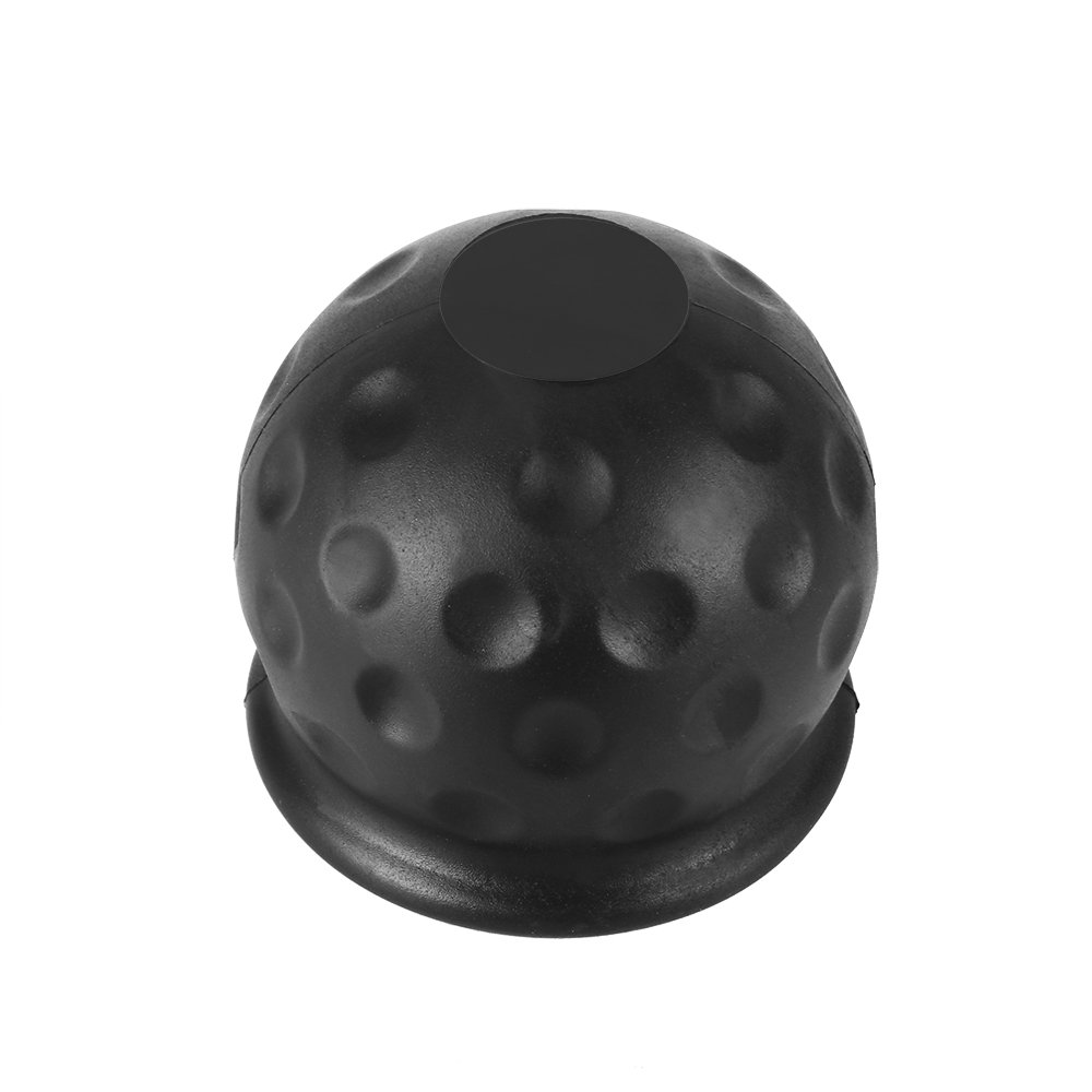 POWSTRO Tow Bar Ball Cover, 50mm Trailer Black Rubber Ball Cover Cap Protect Cap Trailer Hitch Receiver