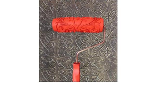 GOTOTOP Rodillo de Pintura Estampado de 5 Rodillo de Textura Decorativa m/áquina de Pintura de un Solo Color con Mango de pl/ástico para la decoraci/ón de la Pared del hogar DIY