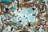 Zinedine Zidane Football Soccer Stars Spun Silk Fabric Cloth Wall Poster Print (36x24inch 90x60cm)