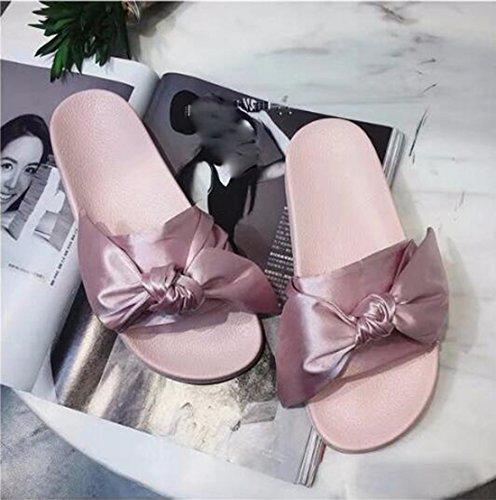 Épais Plane Cour Forty Chaussures Plage Cravate Soie Khskx summer De Les Pantoufles Wind Femmes EwI4FUq