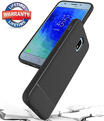 Galaxy J3 2018 Case,Galaxy J3 Achieve Case,Galaxy J3 Star Case,Galaxy Express/Amp Prime 3 Case,Galaxy J3 V 3rd Gen Case,Asmart Shockproof TPU Bumper Slim Phone Case for Samsung Galaxy J3 2018 (Black)