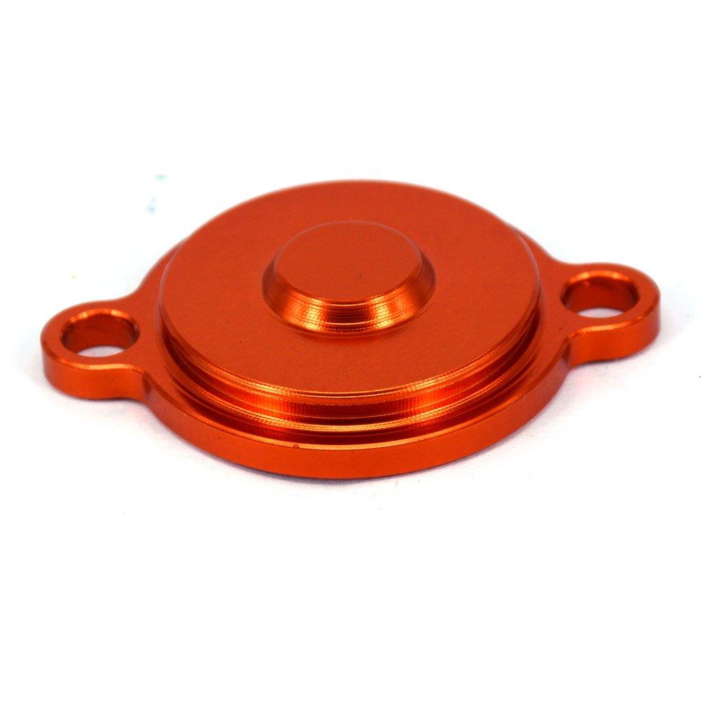 Moto alluminio rosso billet CNC Engine Oil Filter cover Cap for KTM sx-f xc-f xcf-w xc-w EXC SMR250/350/400/450/505/530