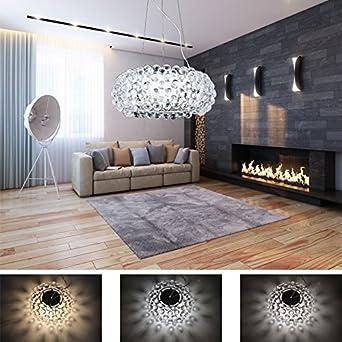 Hengda® 12W LED Pendelleuchte Modern Acryl Kreative Kronleuchter ...
