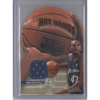 Jerry Stackhouse #356/375 (Basketball Card) 2003-04 Fleer Showcase - Hot Hands - Memorabilia #HH-JS