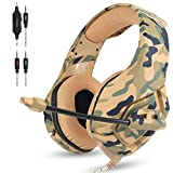 Universal Headset,Professional Stereo Gaming Headset with Mic and Volume Control Noise Isolation for playstation 4,Ipad, PC, Laptop & Smart Phones (Camouflage)