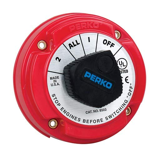 - Perko 8503dp Medium Duty Battery Selector Switch W/Alternator Field Disconnect W/O Key Lock
