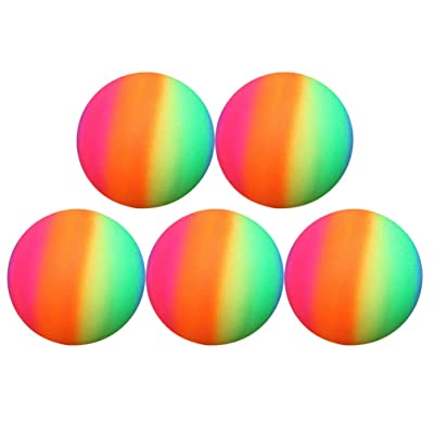 BESPORTBLE Rainbow Balls Thickened PVC Sports Play Ball Kickball Flapping Ball Children Toy for Playground Activities 5pcs 22cm (Colorful): Sports & Outdoors