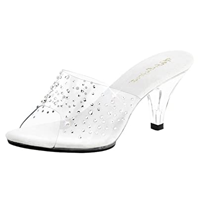 Heels-Perfect , Hi-Top Slippers femme - Transparent - Transparent (transparent), 35 EU