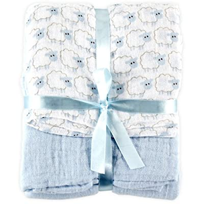 2 Cotton Muslin Swaddle Blankets from Hudson Baby