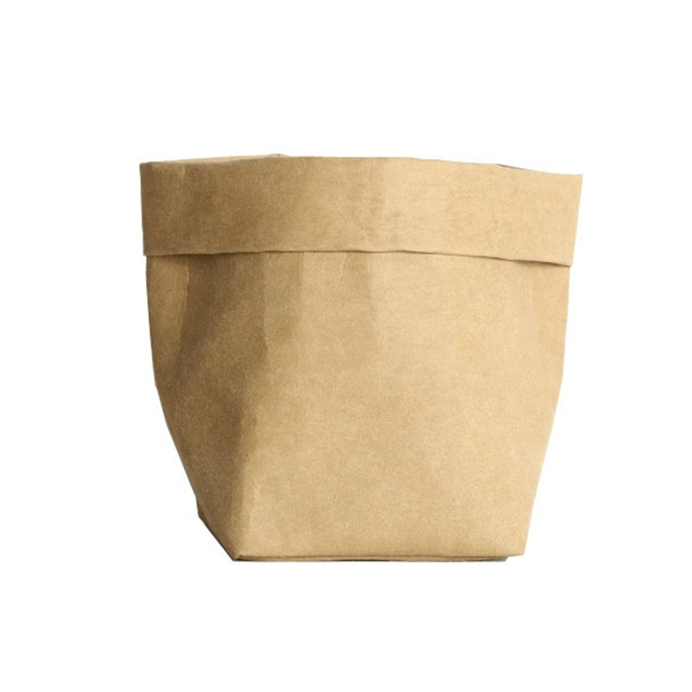 ETbotu Plant Grow Bags Chic Simple Washed Kraft Paper Planter Bag Home Decoration Golden 8 * 8 * 15CM
