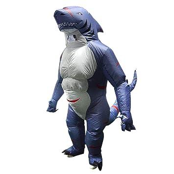 FLAMEER Disfraz de Tiburón Inflable Traje Hinchable Adultos ...