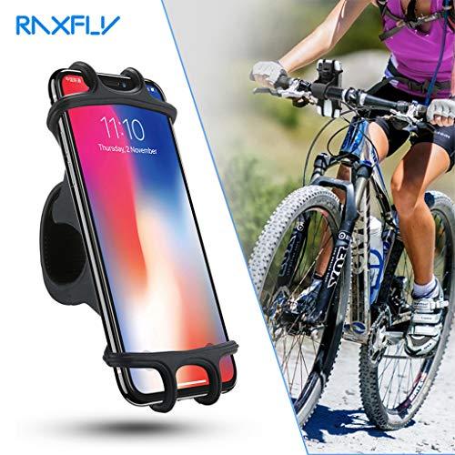 (Finedayqi ❤ Bike Phone Holder 360°Rotation Silicone Bicycle Motorcycle Handlebar Mount)