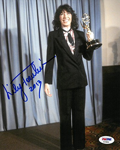 Tomlin Signed Photo - Lily Tomlin Signed Authentic Autographed 8x10 Photo PSA/DNA #AD59656