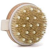 Hand Size Dry Body Brush, Trippix Wooden Bath Brush, Improve Blood Circulation, Exfoliate Skin, Reduce Cellulite, High quality Soft brush