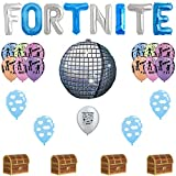 Fortnite Boogie Bomb Birthday Gamers Balloon Party Decor Deluxe Set