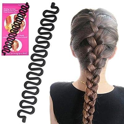 Yaheetech Fashion DIY Women Hair Styling Clip Stick Bun Maker Braid Tool Roller Twist Plait Hair Accessories Black