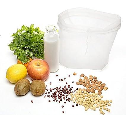 nogal Bolsa de Leche y biodegradables reutilizables filtro Bolsa Ideal para almendra Leche, Avellana Leche