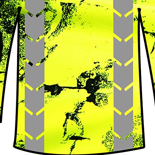 KwikSafety (Charlotte, NC) UNCLE WILLY'S WALL (Chest Pocket) Class 3 ANSI High Visibility Safety Shirt Fishbone Reflective Tape Construction Hi Vis Clothing Men Long Sleeve Camo Yellow Black 2XL by KwikSafety (Image #1)