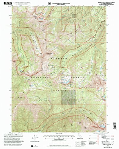(YellowMaps Marble Mountain CA topo map, 1:24000 Scale, 7.5 X 7.5 Minute, Historical, 2001, Updated 2004, 26.8 x 21.4 in - Paper)