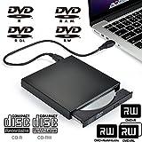 UniLink (TM) USB External DVD-RW, DVD+RW, DVD-R, DVD+R, DVD-R9, DVD+R9, DVD-RAM, CD-RW, CD-R Burner Writer Recorder Reader,Black