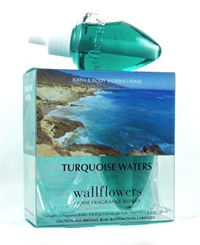 Bath & Body Works Turquoise Waters Scented Wallflowers Home Fragrance Refills One Box of 2 Refill Bulbs ()