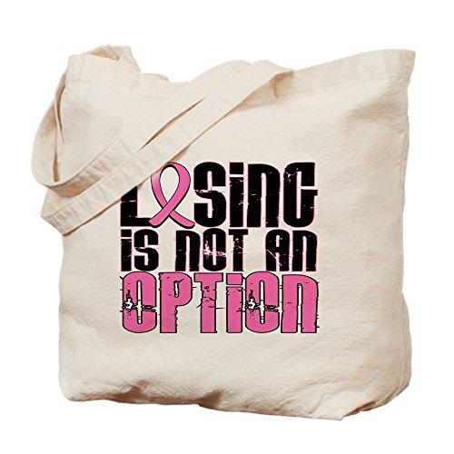 CafePress–Verlieren, ist nicht eine Option Brustkrebs Tasche–Leinwand Natur Tasche, Reinigungstuch Einkaufstasche Tote S khaki