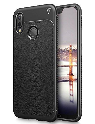 Huawei P20 Lite case, KuGi Huawei P20 Lite case, SS [Scratch Resistant] Premium Flexible Soft Anti Slip TPU Case for Huawei P20 Lite smartphone(Black)