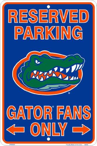 - Florida Gators Fans Reserved Parking Sign Metal 8 x 12 embossed