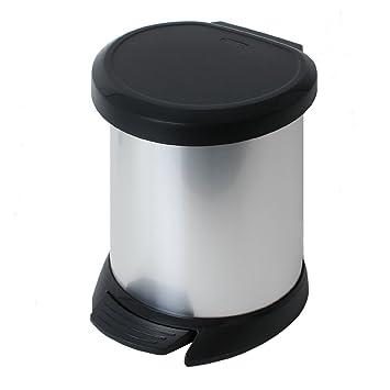 Curver Abfalleimer 50 Liter FOOD SCHWARZ Abfallbehälter Mülleimer mit Tretpedal