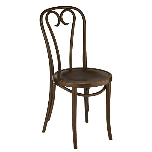 European Bentwood CURLICUE Wood Dining Chairs Walnut