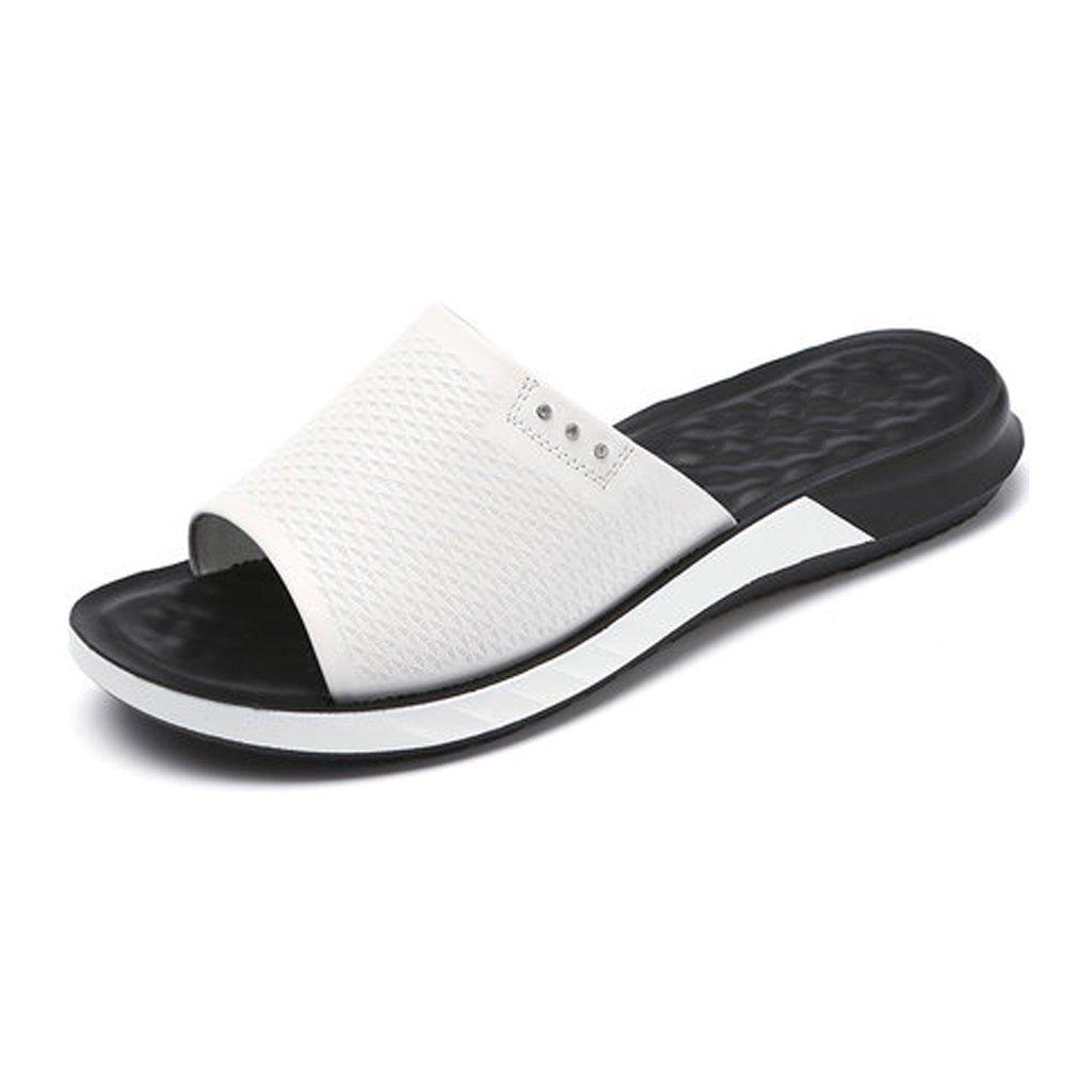 YUBIN Flip Flop Cuero Genuino Fondo Suave Zapatos De Madre Ocio Sandalias De Cuña Planas Antideslizantes Sandalias De Mujer Suave Fresco Transpirable Hueco (Color : A, Tamaño : 37) 37|A