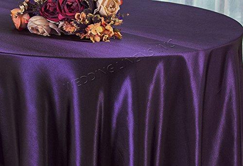 "Wedding Linens Inc. 90"" Round Seamless Satin Silk"