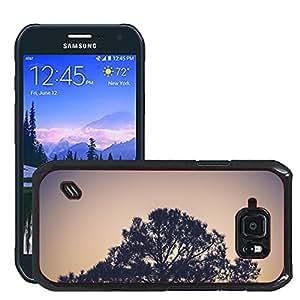 Etui Housse Coque de Protection Cover Rigide pour // M00421596 Planta del árbol de la naturaleza para // Samsung Galaxy S6 Active SM-G890 (Not Fit S6)