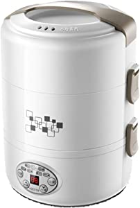 Smart Electric Lunch Box, Portable Plug-In Rice Cooker, Mini Rice Cooker, Suitable for 1/2 Person Home Office