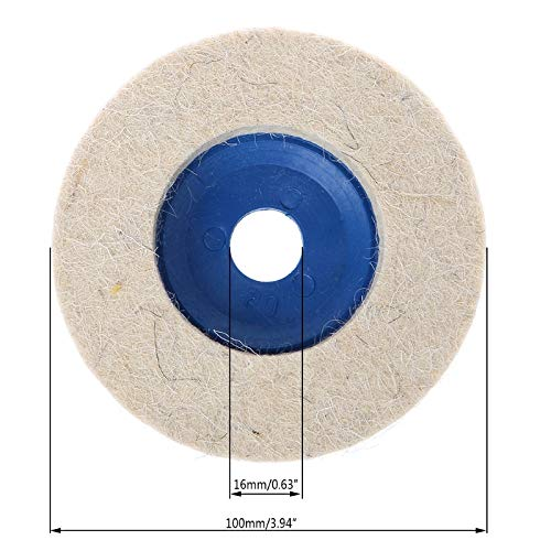 Wool Buffing Pad - 5pcs 4'' Round Polishing Wheel Felt Wool Buffing Polishers Pad Buffer Disc Tools - Samoda