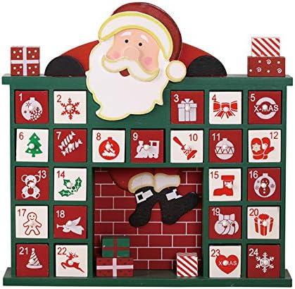 [해외]PIONEER-EFFORT Wooden Santa Claus Advent Calendar24 Drawers to Fill Candy or Small Gifts / PIONEER-EFFORT Wooden Santa Claus Advent Calendar24 Drawers to Fill Candy or Small Gifts