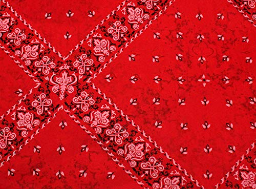(Red Bandana Gift Wrapping Tissue Paper for Art DIY Crafts in Bulk ~ Western # 531~10 Large Sheets Size 20