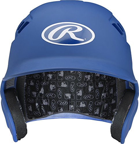 Rawlings Velo Series Alpha Sized Batting Helmet, Matte Royal, Medium by Rawlings