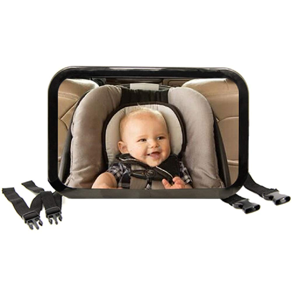 TIROL Back Seat Mirror - Baby & Mom Rear View Baby Mirror Auto Baby Safety Convex Mirror for Car Baby
