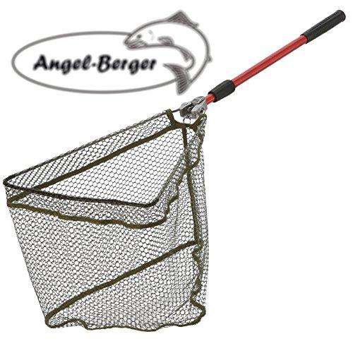 Angel Berger Kescher gummirt Unterfangkescher verschiedene Modelle (190cm)
