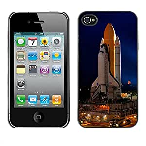 PC/Aluminum Funda Carcasa protectora para Apple Iphone 4 / 4S Cape Canaveral Space Ship Launch / JUSTGO PHONE PROTECTOR