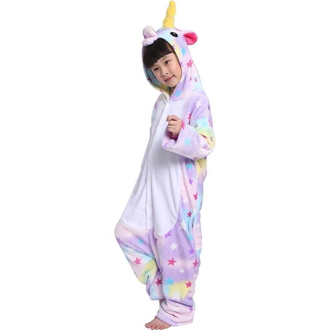Unicornio Pijama diseño Y Unicornio Pijama con Las Estrellas diseño,Unisex Traje de Disfraz Cosplay para Carnaval Halloween Navidad Ropa para Niños
