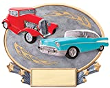Etch Workz Customize Resin Casting Award - MX2035 Series 3D Car Cruise Color Oval Resin Trophy - Engraved Gold Plated - Personalized Free