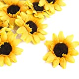 Factory Direct Craft® Group of 48 Artificial Yellow Sunflower Heads for Arranging, Crafting and Embellishing