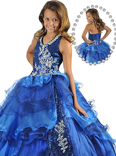Beiji Girls' Glitz Sequin Princess Birthday Ball Gowns Corset Pageant Dress 14 US (Halloween Glitz Pageant Dresses)