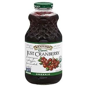 R.W. Knudsen Family Just Juice,Organic, Cranberry, 32 Ounce