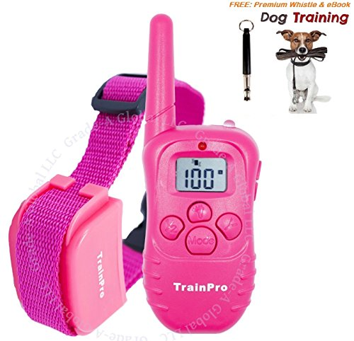 [Dog Training Shock Electric e Collar for Dogs with Remote by TrainPro. NEW VERSION 3.0 e-Collar for 2017. 1100 Yard Rechargeable Water Resistant Safe Humane Vibration. Bonus Dog Whistle &] (Video Of Dog In Costume)